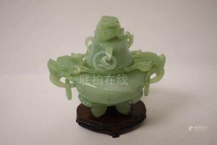 A fine jade carved censer
