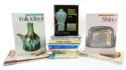 A small Library of Japanese Art Reference Books, including: 'The Art of Japanese Ceramics' by Tsugio