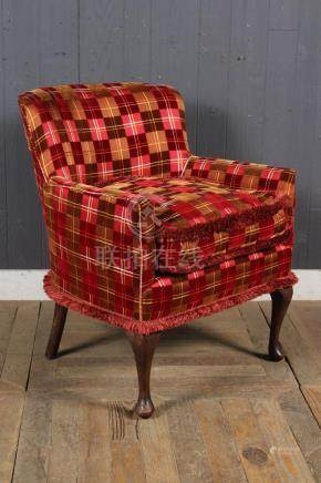 Cut Velvet Upholstered Slipper Chair