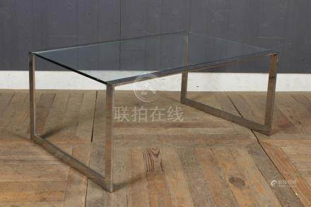 Baughman Inspired Chrome and Glass Coffee Table