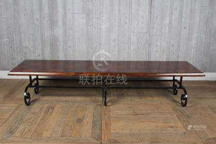 Sofa Length Wrought Iron Coffee Table