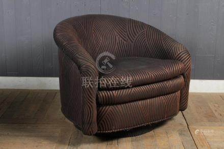 Upholstered Barrel Back Chair