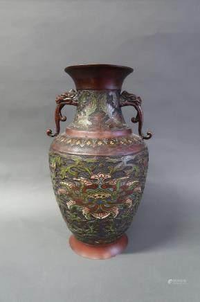 Vase en cloisonné Japonais