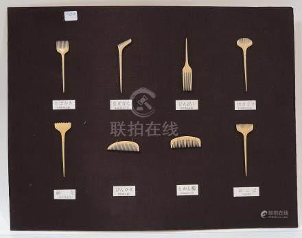 JAPON. Tableau de présentation de nécessaire de coiffeur