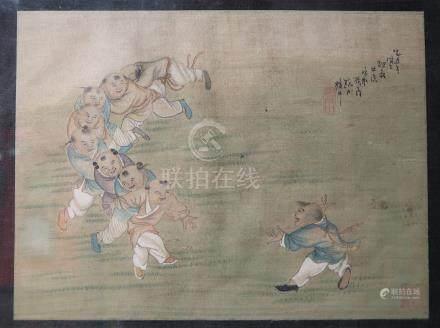 Trois peintures sur soie