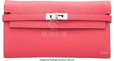 16002: Hermès Rose Lipstick Chevre Leather Kelly