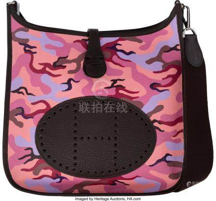 16005: Hermès Customized Pink Camouflage Toile &