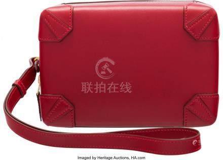 16020: Hermès Rouge Vif Tadelakt Leather Mini Ma