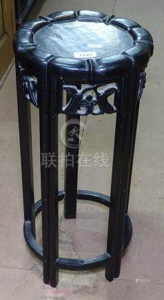 A small Chinese rosewood jardiniere stand, H55cm, W25cm