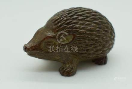 Japanese bronze hedgehog, 3.5cm long