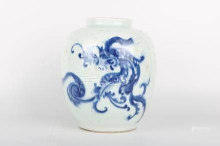 Chinese Qing Dynasty Porcelain Jar