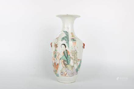 Chinese Republic Of China Period Famille Rose Vase