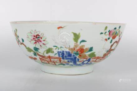 Chinese Qian Long Period Famille Rose Bowl