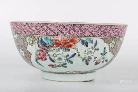 Chinese Yongzheng Period Famille Rose Bowl