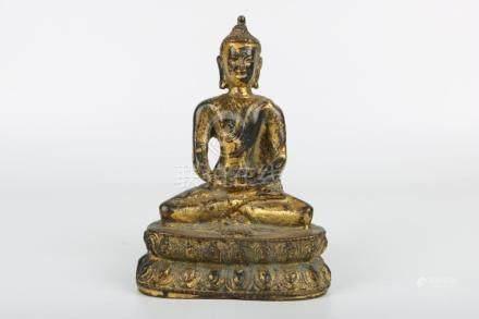 Chinese Bronze Gold Gilded Buddha