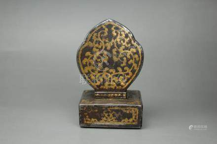 Chinese Qing Dynasty Iron Gold Seal