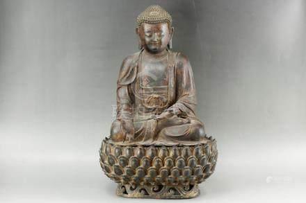 Chinese Ming Dynasty Bronze Sakyamuni Statue