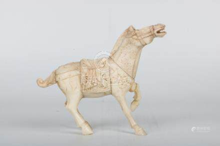 Chinese Qing Dynasty Bone Carving Horse Ornaments