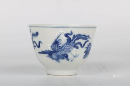 Chinese Blue And White Cup
