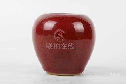 Chinese Red Glaze Water Jar