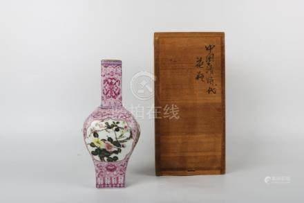 Chinese Famille Rose Landscape Bottle