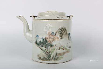 Chinese Republic Of China Period Painted Pot