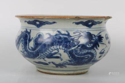 Chinese Blue And White Incenser Burner