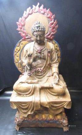 Qing Dynasty Chinese Seated Buddha