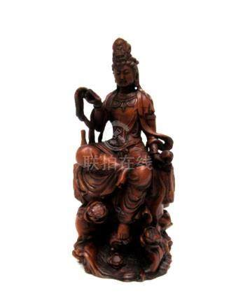 18th-19th Century Chinese Boxwood Guanyin