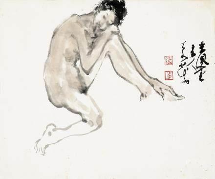 李奇茂-人物写生