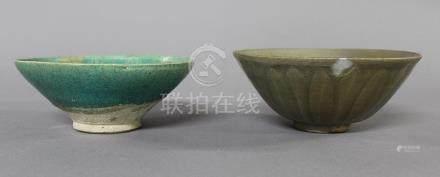 CHINE, Période Yuan (1271-1368) COUPE en céramique et émail céladon de type Yaozhou, le pourtou