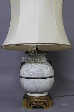 POTICHE BOULE montée en lampe - Style Chine XVIIIème Siècle Epoque Fin du XIXème Début du XXème
