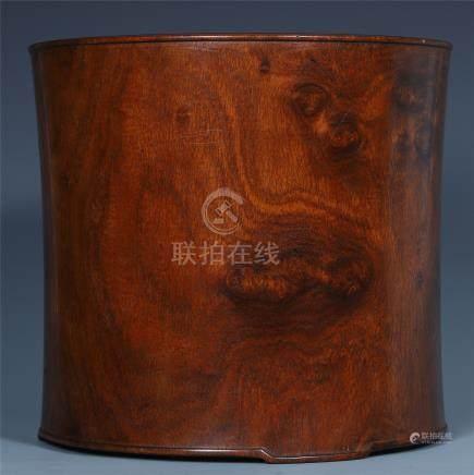 CHINESE HARDWOOD HUANGHUALI BRUSH POT