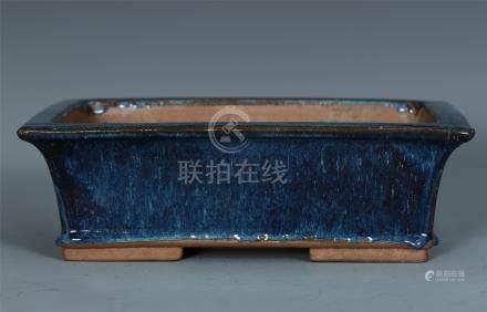 CHINESE YIXING ZISHA RED GLAZE PLANTER
