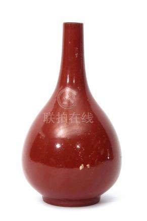 Chinese 19th century porcelain rouge flambe vase, 23cm high