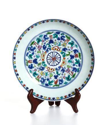 Chinese Doucai Saucer Dish