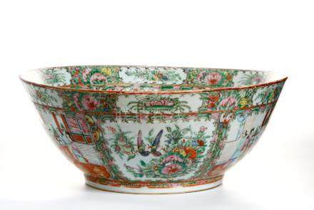 Chinese Canton Famille Rose Bowl