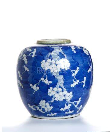Chinese Blue and White 'Prunus' Ginger Jar