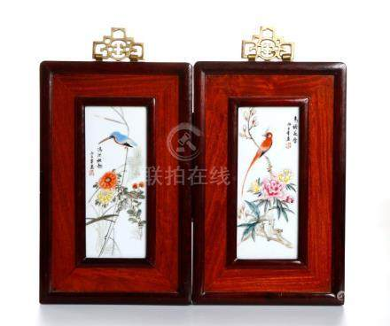 Chinese Four Chinese Porcelain Plaques