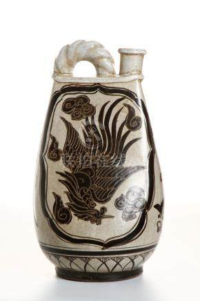 Chinese Cizhou Type Flask