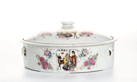 Chinese Famille Rose Basin and Cover