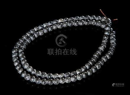 Chinese Archaistic Jade Beads Necklace