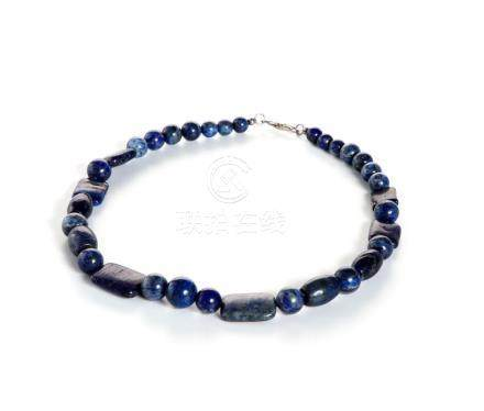 Chinese Lapis Lazuli Beaded Necklace