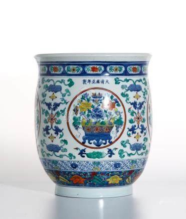 Chinese Doucai Jardiniere