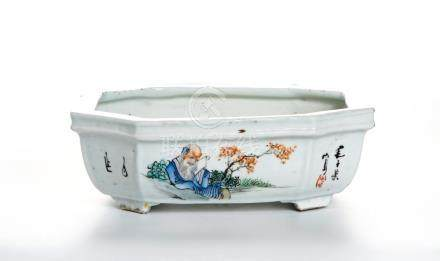 Chinese Famille Rose Narcissus Bowl