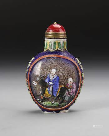 Chinese Enameled Peking Glass Snuff Bottle
