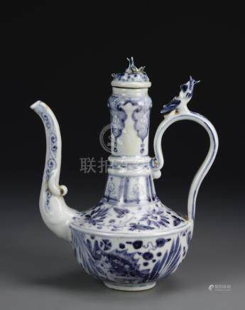 Chinese Blue And White Ewer