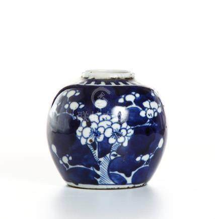 Chinese Blue and White 'Prunus' Ginger Jar and Cov