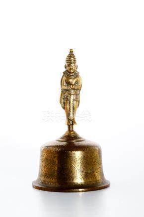 Chinese Gilt Bronze Ceremonial Bell