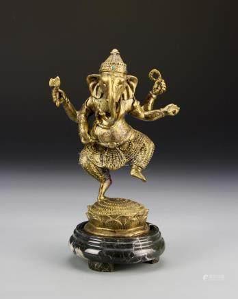 Chinese Gilt-Bronze Figure of Genesh